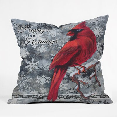 Madart Inc Happy Holidays Design Throw Pillow Size: Medium
