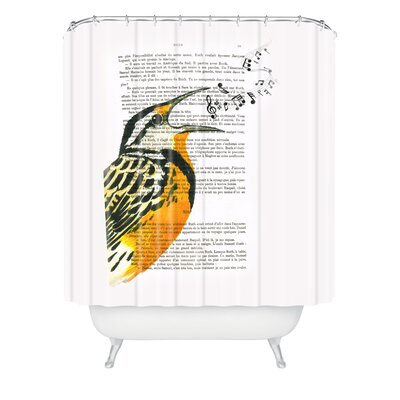 Coco De Paris Singing Bird 01 Shower Curtain