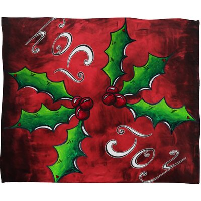 Madart Inc Mistletoe Joy Plush Fleece Throw Blanket Size: Large