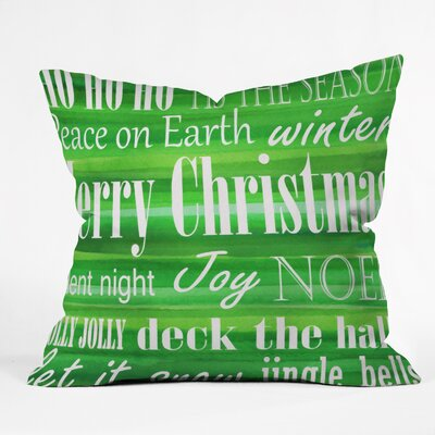 Sophia Buddenhagen Christmas Throw Pillow Size: Medium