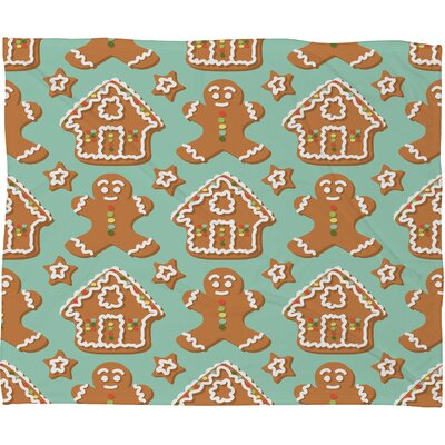 Sabine Reinhart Christmas Kitchen Plush Fleece Throw Blanket Size: Large