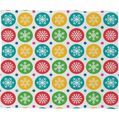 Andi Bird Sierra Snowflakes Plush Fleece Throw Blanket Size: Large