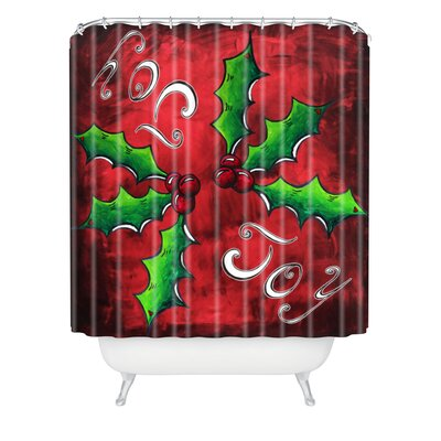 Madart Inc Mistletoe Joy Shower Curtain