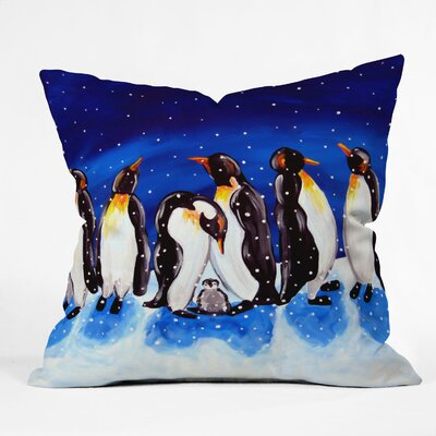 Renie Britenbucher Penguin Party Throw Pillow Size: Medium