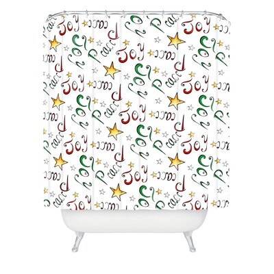 Madart Inc Peace and Joy Pattern Shower Curtain