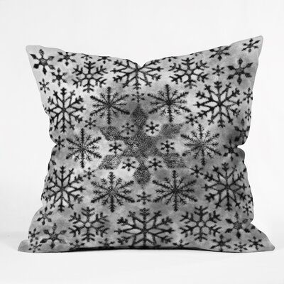Ruby Door Snow Leopard Snowflake Throw Pillow Size: Medium