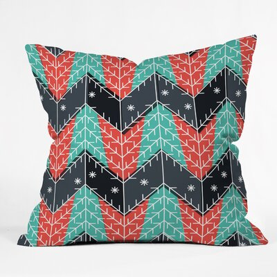 Sam Osborne Christmas Trees Throw Pillow Size: Large