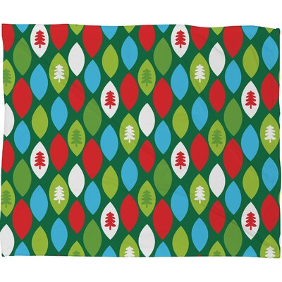Zoe Wodarz Mini Forest Plush Fleece Throw Blanket Size: Small