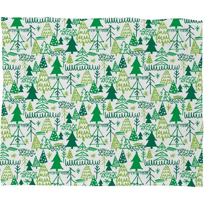 Zoe Wodarz Wonderland Forest Plush Fleece Throw Blanket Size: Small