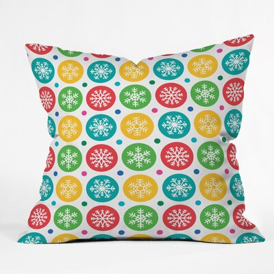 Andi Bird Sierra Snowflakes Throw Pillow Size: Large
