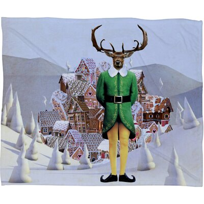 Natt Elfland Plush Fleece Throw Blanket Size: Large