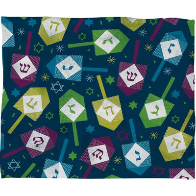 Loni Harris Dreidel Dreidel Plush Fleece Throw Blanket Size: Medium