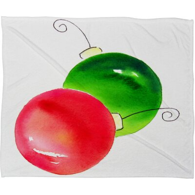 Laura Trevey Deck The Halls Plush Fleece Throw Blanket Size: Large