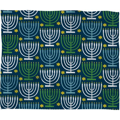 Loni Harris Menorahs Plush Fleece Throw Blanket Size: Medium