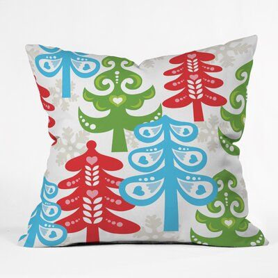 Zoe Wodarz Forest Tales Throw Pillow Size: Large