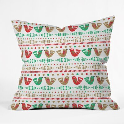 Zoe Wodarz Geo Pop Birds Throw Pillow Size: Small