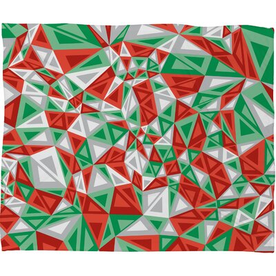 Gneural Triad Illusion Yule Plush Fleece Throw Blanket Size: Large