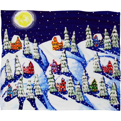 Renie Britenbucher Silent Night Plush Fleece Throw Blanket Size: Medium