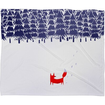 Robert Farkas Alone In The Forest Plush Fleece Throw Blanket Size: Large