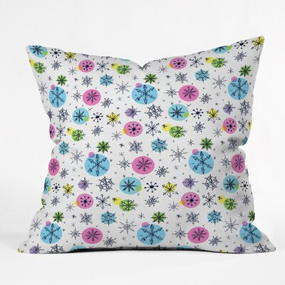 Sam Osborne Snowflake Doodles Indoor Throw Pillow Size: Large