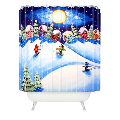 Renie Britenbucher Skiers Shower Curtain