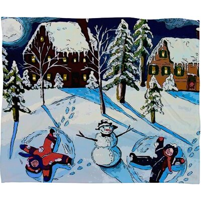 Renie Britenbucher Snow Angels Plush Fleece Throw Blanket Size: Large