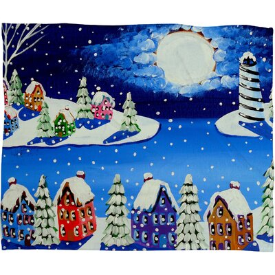 Renie Britenbucher Snowy Shoreline Plush Fleece Throw Blanket Size: Medium