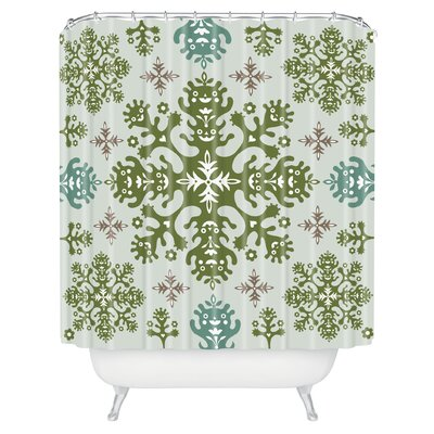 Andi Bird Monstrous Shower Curtain Color: Earth