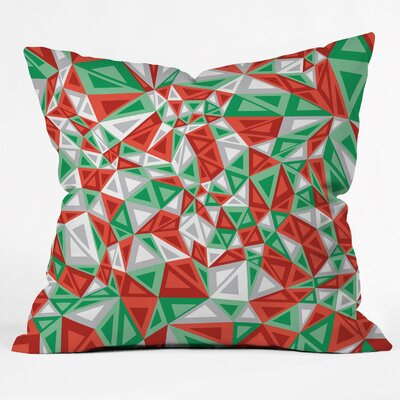 Gneural Triad Illusion Yule Throw Pillow Size: Large