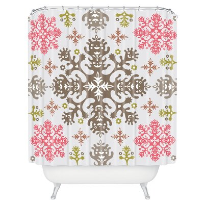 Andi Bird Monstrous Shower Curtain Color: Rose
