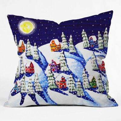 Renie Britenbucher Silent Night Throw Pillow Size: Large
