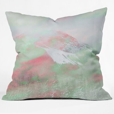 Caleb Troy Banff Painted Christmas Throw Pillow Size: Small, Color: Red