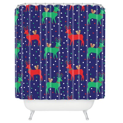 Zoe Wodarz Geo Pop Deer Shower Curtain