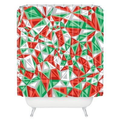 Gneural Triad Illusion Yule Shower Curtain
