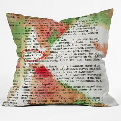 Susanne Kasielke Santa Claus Dictionary Art Throw Pillow Size: Large