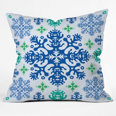 Andi Bird Monstrous Throw Pillow Size: Medium, Color: Blue