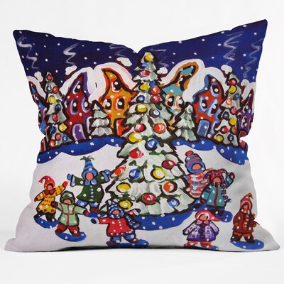 Renie Britenbucher Oh Christmas Tree Throw Pillow Size: Medium