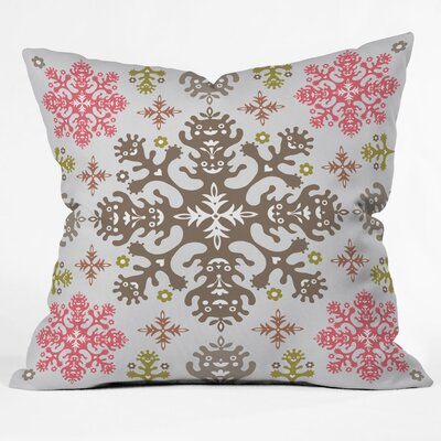 Andi Bird Monstrous Throw Pillow Size: Large, Color: Rose