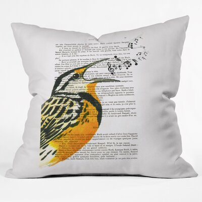 Coco De Paris Singing Bird Throw Pillow Size: Large