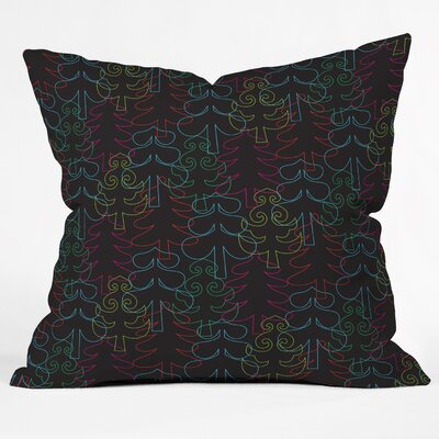 Zoe Wodarz Forest Neon Lights Throw Pillow Size: Small