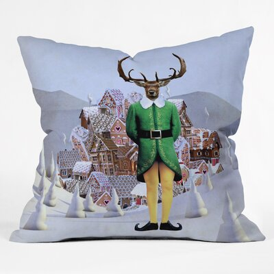 Natt Elfland Throw Pillow Size: Medium