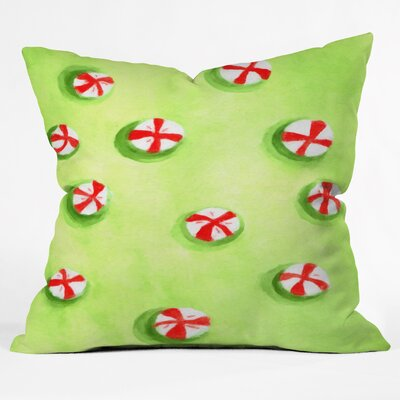 Rosie Brown Christmas Candy Throw Pillow Size: Extra Large