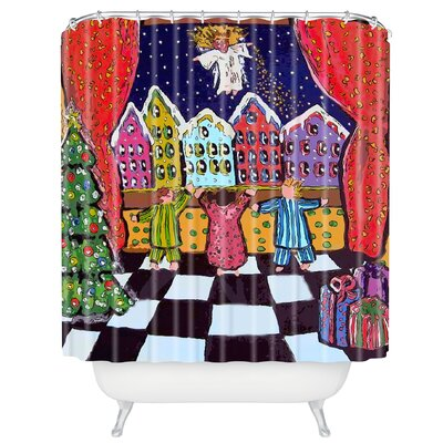 Renie Britenbucher Christmas Angel Shower Curtain