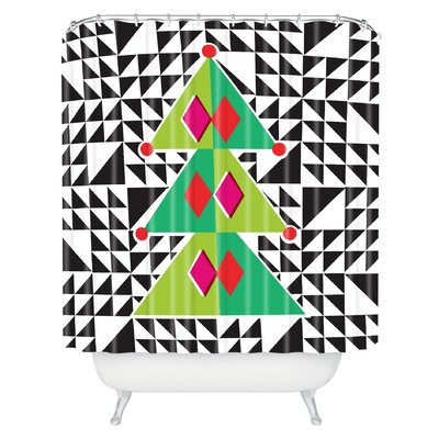 Zoe Wodarz Geo Pop Tree Shower Curtain