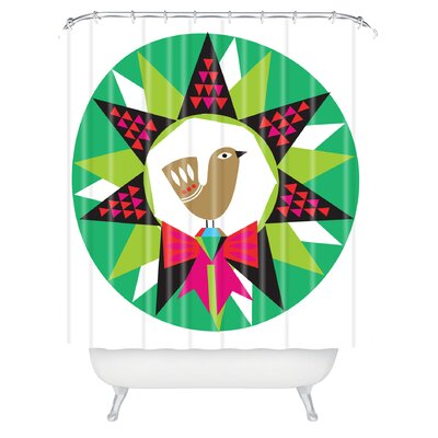 Zoe Wodarz Geo Pop Wreath Shower Curtain