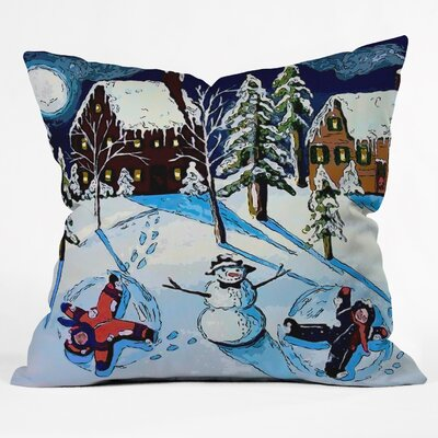 Renie Britenbucher Snow Angels Throw Pillow Size: Medium