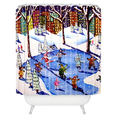 Renie Britenbucher Winter Fun In The City Shower Curtain