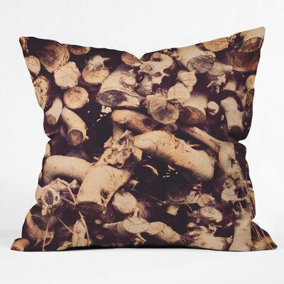 The Light Fantastic Kindling Throw Pillow Size: Small