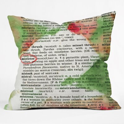 Susanne Kasielke Mistletoe Dictionary Art Throw Pillow Size: Extra Large