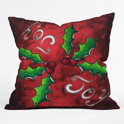 Madart Inc Mistletoe Joy Throw Pillow Size: Medium
